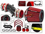 Velocity Concepts MATT BLACK Short Ram Air Intake Kit + RED For 91-99 Nissan Sentra 93-97 Altima 95-98 200SX