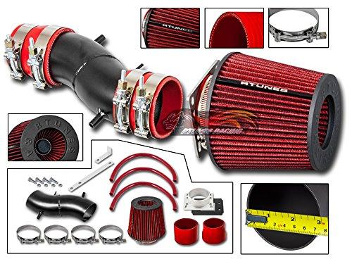 Velocity Concepts MATT BLACK Short Ram Air Intake Kit + RED For 91-99 Nissan Sentra 93-97 Altima 95-98 200SX