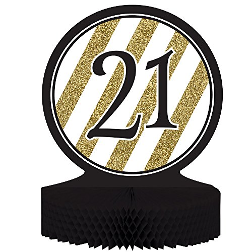 21 Centerpiece Table Decoration, Black and Gold, -