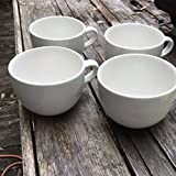 Large Grand Ceramic White Mugs for