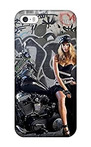 Faddish Phone Girls And Motorcycles Case For Iphone 5/5s / Perfect Case Cover