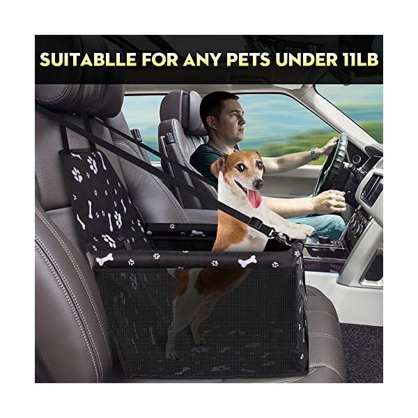 SWIHELP Hunde Autositz Wasserdicht Atmungsaktiv Haustier-Auto-Matte Sicherheit Haustier Auto Booster Waschbar…
