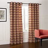 IYUEGOU Country Fresh Style Warm Color Plaid Eco-friendly Grommet Top Curtains Draperies With Multi Size Custom 42″ W x 63″ L (One Panel) Review