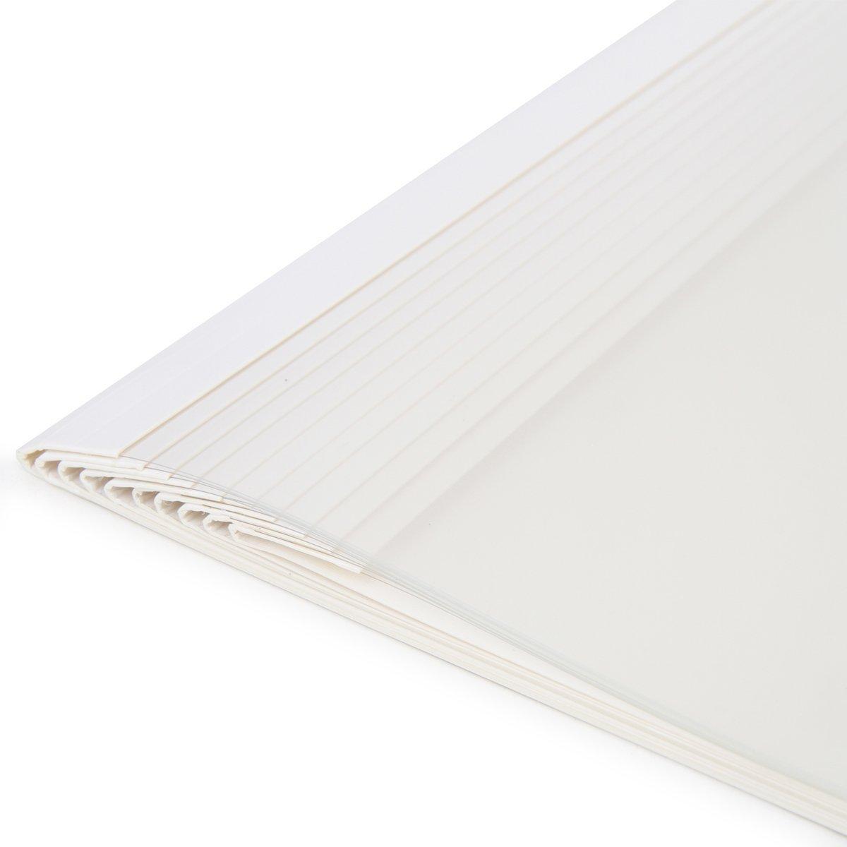 dorso da 2/mm capacit/à da 25/fogli ciascuna MyLifeUNIT Copertine per rilegatura termica A4 confezione da 10 6mm white