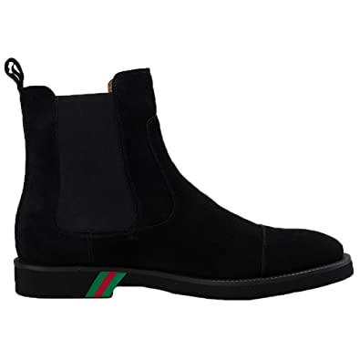 Santimon Mens Chelsea Boots Dress Leather Suede Comfortable Classic Simple  Slip on: Amazon.co.uk: Shoes & Bags