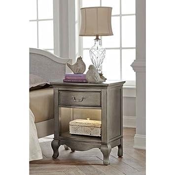 Hillsdale Furniture NE Kids 30530 Kensington Nightstand with Lights, 1 , Antique Silver,