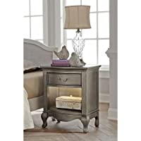 Hillsdale Kids and Teens 30530 Kensington NE Kids Nightstand with Lights, 1, Antique Silver