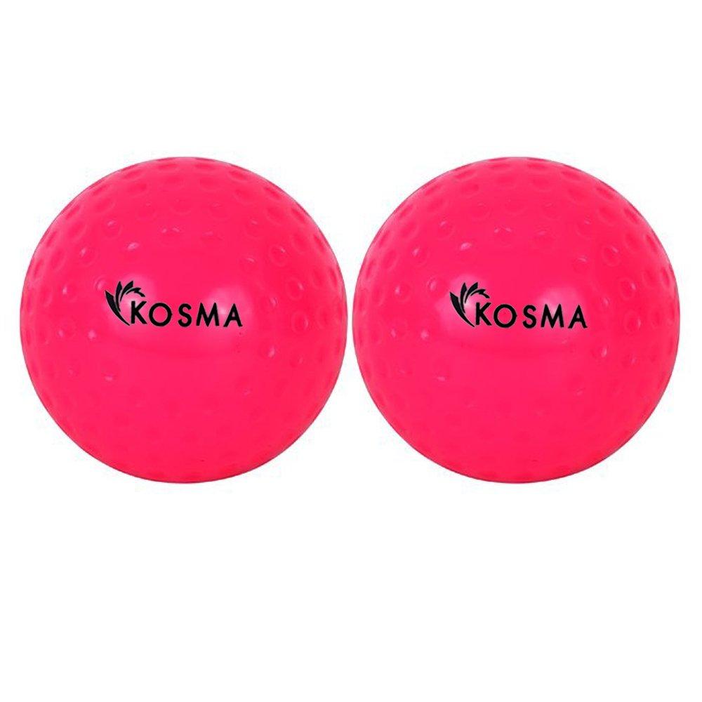 Outdoor Sports PVC Practice Training Balls 2 Multi color 2 White Kosma Set of 4 Dimple Hockey Ball