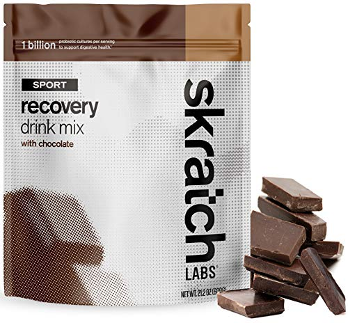 SKRATCH LABS Sport Recovery Drink Mix with Chocolate, (21.2 oz, 12 servings) with Complete Milk Protein of Casein and Whey and Probiotics, Gluten Free, Kosher, Natural, Vegetarian