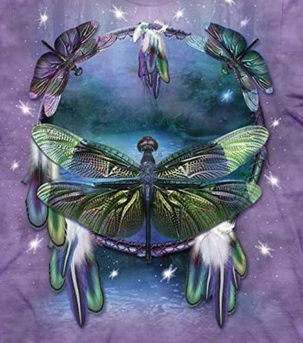 YUMEART 5D DIY Handwork Diamond Painting Cross Stitch Pattern Embroidery Full Square Drills Dragonfly Diamond Mosaic Wall Paintings