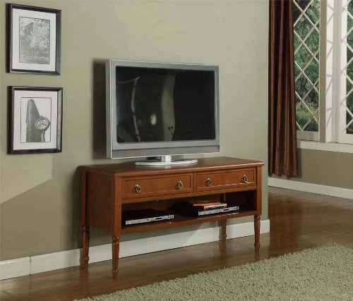 Kings Brand Walnut Finish Wood Plasma TV Console Stand Entertainment Center With - Console Plasma Furniture