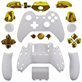 Mod-Freakz-ShellButton-Kit-Color-and-Gold-Collection-Matte-White-Gold-Not-a-Controller-Does-Not-Have-a-Headphone-Jack