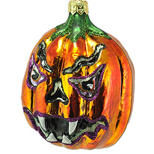 Slavic Treasures Baneful Bill Halloween Ornament Pumpkin Monster 2001 -