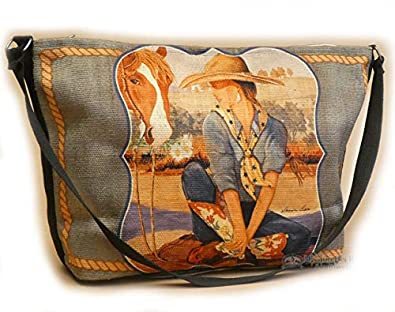 4a3db54f9 Mission Del Rey Western Print Shoulder Bag for Southwest Style Purse,  Travel Handbag or Outdoor Activity. (Annie): Handbags: Amazon.com