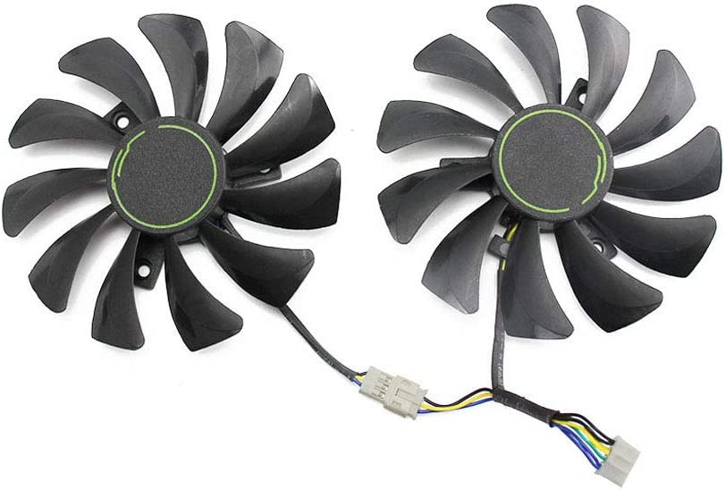 Graphics Card Fan Graphics Card Gpu/Vga Fan, 85MM HA9010H12F-Z 4Pin Cooler Fan Replacement for MSI GTX 1060 OC 6G GTX 960