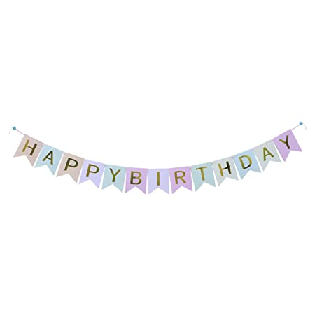 Amosfun cumpleaños alfabeto banner colgando feliz cumpleaños ...