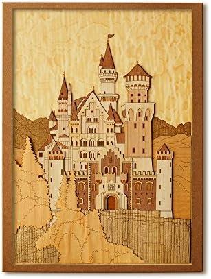 KINOWA 「ノイシュヴァンシュタイン城」 木はり絵 オリジナル 手作り キット 世界の城 ドイツ 日本製