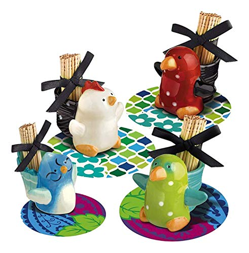 Grasslands Road Petals Bird Toothpick Holder, Sold Individually