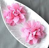 12 Candy Pink Chiffon Flower Soft Chiffon Fabric