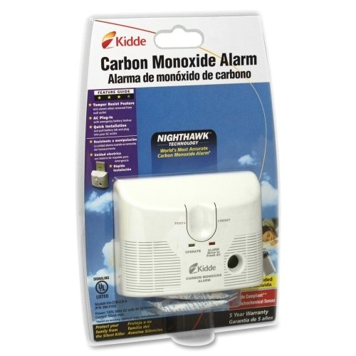 Kidde Fire AC/DC Plug-in Carbon Monoxide Alarm
