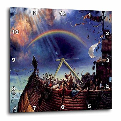 3dRose DPP_98626_1 Rendering of Noahs Ark on The Sea.Jpg-Wall Clock, 10 by 10-Inch