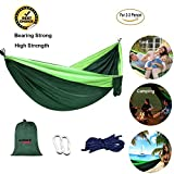 Cheap Camping Hammock Double Single Portable Lightweight Hanging Bed High Strength Parachute Nylon Fabric Pro Hammock With Ropes Carabiners For Backpacking Camping Travel Beach Yard Mats Cots ENO