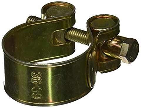 Uxcell Brass Tone T Bolt Pipe Hose Clamp Fastener, 36-39mm
