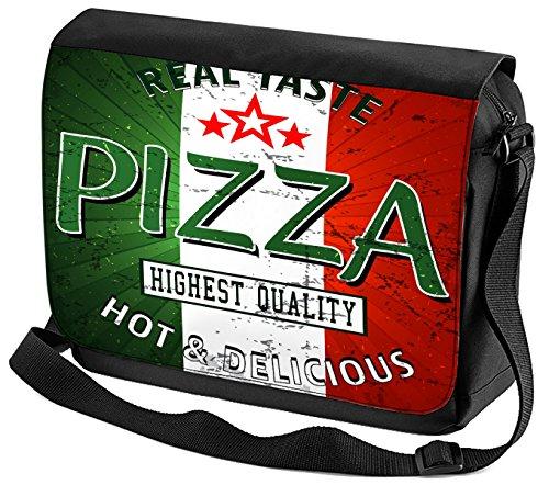 Umhänge Schulter Tasche Nostalgie Fun Pizza Geschmack bedruckt