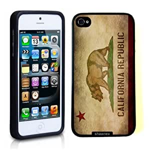 Iphone 5 5S Case Thinshell Case Protective Iphone 5 5S Case Shawnex California Republic Flag Grunge Distressed by icecream design