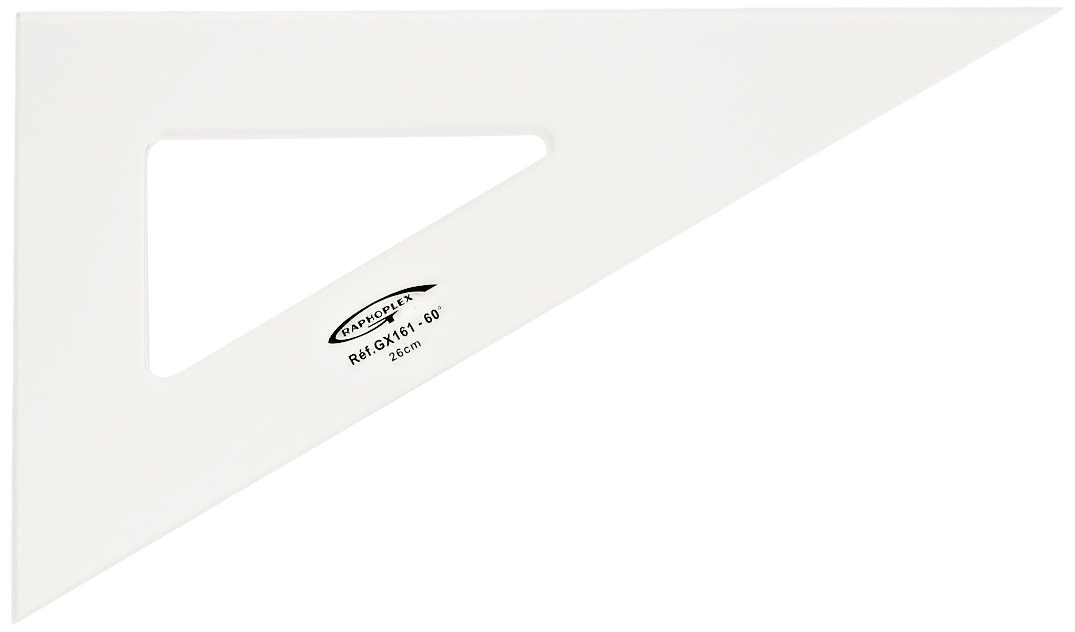 Graphoplex 60° Square 3 pieces Straight Edges 26 cm Transparent