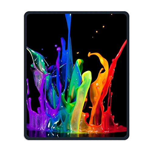 - Non-Slip Mouse Pad Rectangle Rubber Mousepad Colorful Paint Print Gaming Mouse Pad