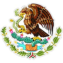 Mexican Coat of Arms Sticker Die Cut Decal Self Adhesive FA Vinyl