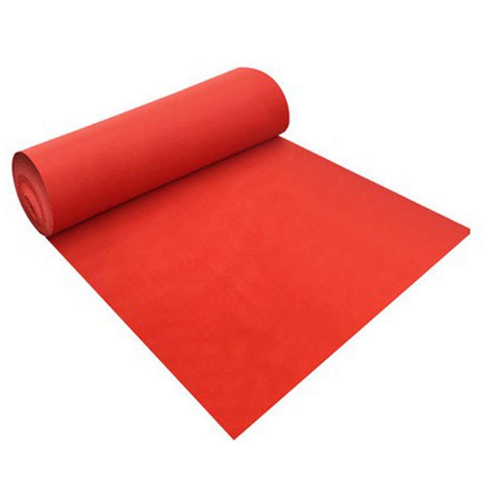 Home Life Alfombras Y Tapetes Banquete De Boda Rojo Antideslizante Evento Celebración Multifunción, Espesor 0.2 Mm (Color : Red, Tamaño : 2m x 10m)