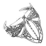 Van Kempen Art Nouveau Dragonfly Cuff Bracelet in Sterling Silver