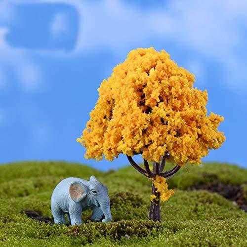 Kiartten 50% - Mini Tree Fairy Garden Decorations Miniatures Micro Landscape Resin Crafts Bonsai Figurine Garden Terrarium Accessories 1 Pcs - Miniature Pine Tree ()