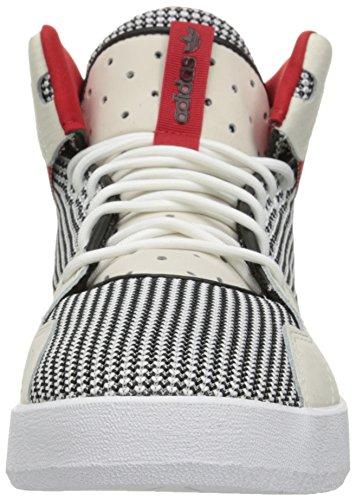 Sneakers Alte Adidas Originali Mens Crestwood Bianche / Nere / Scarlatte