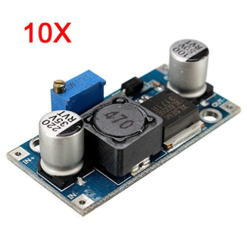10Pcs 4A XL6009E1 Adjustable DC-DC Step Up Converter Power Supply Module - Arduino Compatible SCM & DIY Kits Module Board - 10 x 4A XL6009E1 Adjustable DC-DC Step Up Boost Converter Power Supply by Unknown