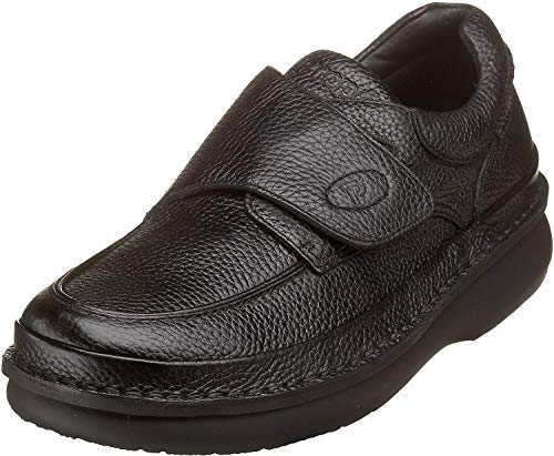 Propét Men's M5015 Scandia Strap Slip-On,Black Grain,10 M (US Men's 10 D)