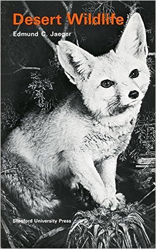 Desert wildlife edmund c jaeger 9780804701242 amazon books desert wildlife 1st edition fandeluxe Gallery