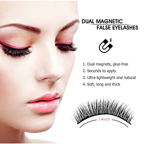 187 Magnetic Eyelashes No Glue Dual Magnets Natural False