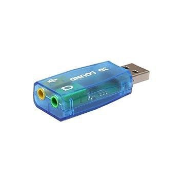 iusun Audio USB 3d tarjeta de sonido externa 5.1 USB a 3,5 ...