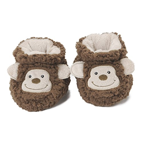 Baby Snoozies Plush Sherpa Animal Booties Monkey Large (6-12 Months)