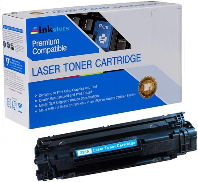 Inksters Compatible Toner Cartridge Replacement for HP 83A CF283A Black - Compatible with Laserjet Pro M201N M201DW MFP M125 M125NW M127 M127FN M127W M201 M225 MFP
