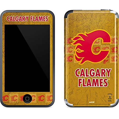 (NHL Calgary Flames iPod Touch (1st Gen) Skin - Calgary Flames Vintage Vinyl Decal Skin For Your iPod Touch (1st Gen))