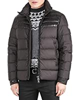 Moncler Dinant Men's Glossy Shoulder Panel Down-Padded Jacket