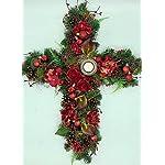 christmas-memorial-arrangement-cemetary-flowers