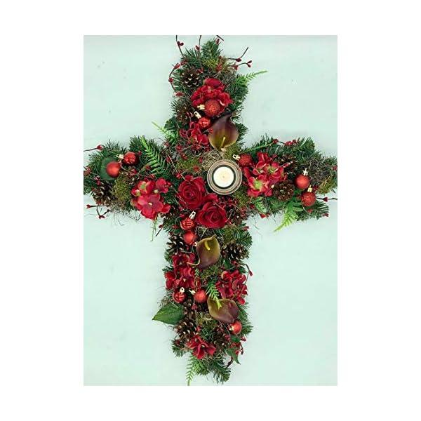 christmas memorial arrangement, cemetary flowers