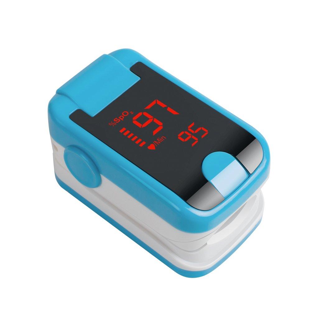 Zorvo Portable Fingertip Pulse Oximeter Blood Oxygen Saturation Monitor LED Digital Finger Pulse Oximeter with Lanyard Spo2 Monitor Finger Puls Oximeter