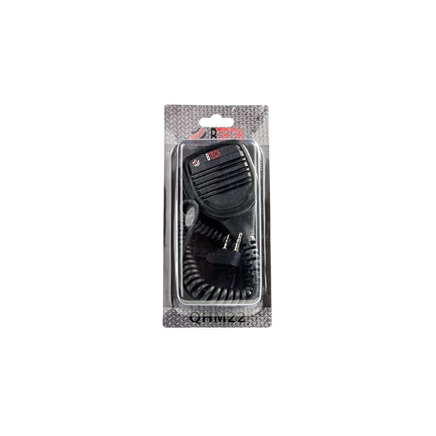 BTECH QHM22 Platinum Series IP54 Rainproof Shoulder Speaker Mic for BaoFeng, BTECH, Kenwood Radios