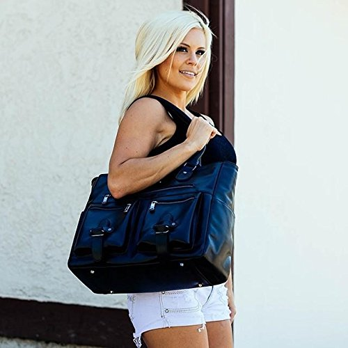 6 Pack Fitness Renee Leather Tote with Insulated Meal Management System, Black (25405) by 6 Pack Fitness (Image #7)